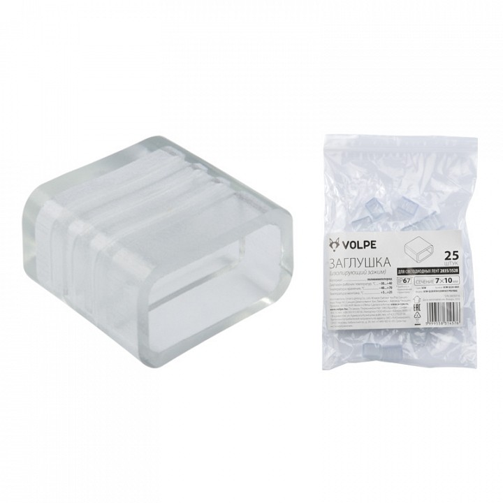 Заглушка UCW-Q220 K10 CLEAR 025 POLYBAG 10973